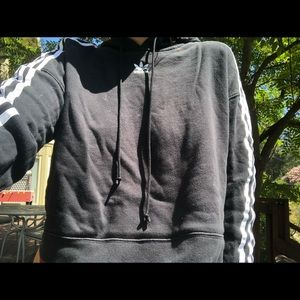 cropped addidas hoodie